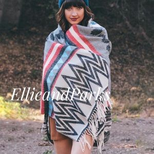 Accessories - ❗️Last One❗️Emma Tribal Blanket Scarf